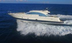 Your opportunity to own the only Aicon 72 listed in the United States 870 Engine Hours Euro/US Electrical Conversion performed by Nauti-Tech Additional photos of crew quarter and engine room to come Duty Paid Interior refit 2015 Electric Cockpit Awning