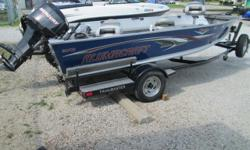 What a great tiller fishing machine with tons of equipment! The boat is in good condition inside and out. Tons of fishing space. Package includes a 55# thrust MinnKota electric at the bow, Sonar GPS system, VHF Radio, Mercury 60hp EFI 4-stroke motor,