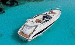 Add Updates: New teak Low hours   The Atlantis 47 is a sporty thoroughbred, but taking control of her horsepower with a wood steering wheel in hand isn't the only pleasure offered on board. The large aft sun pad is an invitation to relaxation while