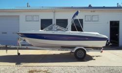 2006 Bayliner 185 BR equipped with Mercruiser 4.3 L 190 hp inboard/outboard motor. Boat includes bimini top, strap cover, rear ladder, radio and single axle trailer with swing tongue and brakes. 8 person capacity. Please call before coming to view as our