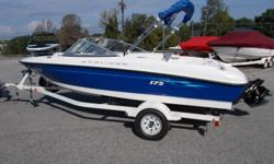 06 Bayliner 175BR with Mercruiser 3.0 and Alpha drive. Boat is excellent condition and has been stored in a heated garage its entire life by original owner. Has under 100 hrs. Includes a Humminbird fishfinder, bimini top, stereo, full mooring cover, skis,