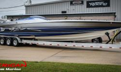 -Boat Has 95 Hours Total -Mercury Racing 1075s (Top Ends Done 10 Hours Ago by Sterling Performance), With Stelling Headers, Muffler Tips -Mercury Racing #6 Drives -Mercury Racing K-Plane Trim Tabs -Brand new 1550 Bam Transmissions -Livorsi Monster Gauges
