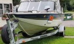2006 Crestliner 1850 Sportfish 2006 Crestliner 1850 Sportfish boat in great condition Two-tone White and Blue hull with a White interior Equipped with a 115hp Yamaha 4-Stroke Single Outboard motor with an 8hp Yamaha Trolling motor Currently with 30 hours