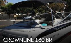 Actual Location: Norwalk, CA - Stock #094184 - If you are in the market for a bowrider, look no further than this 2006 Crownline 180 BR, just reduced to $17,500 (offers encouraged).This boat is located in Norwalk, California and is in great condition. She