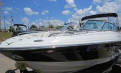 This is a very nice 2006 Crownline 230 powered by a Mercruiser 350 Mag MPI with 300hp with only 306 hours. This boat has tons of seating and storage for the entire family. Some of the options include, bimini top, snap on cover, snap in carpets, stereo,