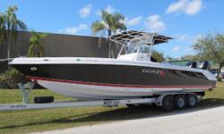Recentupdates including new interior,new full sunbrella mooring cover and new trailer.Exceptionallycleanand well taken care of by the currentowner. T-Mercury Verado 250's,K-Planes, Mercury Smart Craft Gauges,Mercury DTS