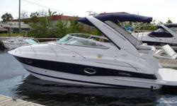"Class:Power Category:Cruiser (power) Year:2006 Make:DORAL Model:Monticello Length:26 Location:Delray Beach, FL Builder:DORAL LOA:25'4"" Beam:8'6"" Engine Model:VOLVO 5.7L OSXI DP Horsepower:320 Engine Hours:75 Max Speed:40 knots Propulsion Type:SINGLE I/O"