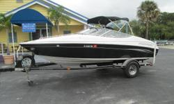 Fun and FastGreat running with 71 hrs 220hp Ebbtide 200 Bow Rider. features bold stripes on the exterior and stainless steel bezeled instruments at the helm. With her versatile sport interior including driver and passenger bucket seats, rear