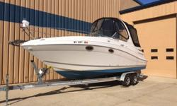 Looking for that first weekender style boat? Look no further! This VERY WELL equipped features options you would only find in boats twice this size. Features include: Air/Heat, Camper Canvas, GPS Moving Map, Windlass (electric anchor winch) Camper Canvas,