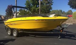 Like NEW!!!! This boat is perfect for a family day of FUN ON THE WATER! The boat is a must see. Stop in today or call Shawn for more details. (805) 466-9058 Engine(s): Fuel Type: Gas Engine Type: Stern Drive - I/O Quantity: 1 Draft: 2 ft. 3 in. Beam: 8
