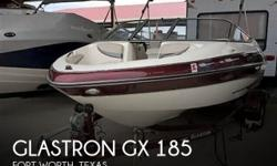 Actual Location: Fort Worth, TX - Stock #093616 - If you are in the market for a bowrider, look no further than this 2006 Glastron GX 185, just reduced to $18,900 (offers encouraged).This boat is located in Fort Worth, Texas and is in great condition. She
