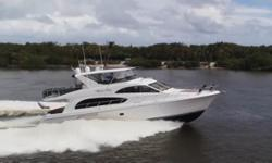 This Hatteras 64 Motor-yacht features sleek, contemporary exterior styling matched to a luxurious interior Tommy Bahamas finish. The 64MY model reflectsacute attention to Hatteras quality and a great floor-plan for extended cruising and guest