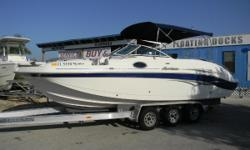 2006 Hurricane 257 with a Volvo 5.7L Hurricane is the #1 deck boat in this area the past 25 years.When you're looking for a family boat, there's only one thing that you want: Everything. You need a boat that's ready to play hard and perform well,