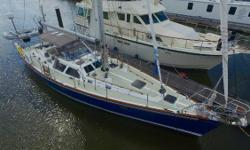This boat is a blue water cruiser that has been maintained and upgraded to the highest standards. The Aristo Blue Awlgrip hull turns heads, and the center cockpit configuration is designedfor safe and comfortable passage making. There is a complete