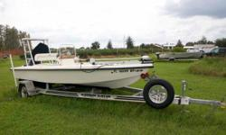 (LOCATION: Trinity FL) The Key West 1740 Center Console is a great choice for flats fishing. She has a open cockpit with fishing room fore and aft along with the amenities needed for successful fishing. She is powered by a 150 horsepower Yamaha