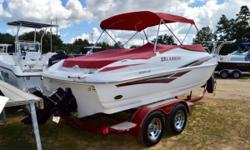 You have to see this boat! It must have been kept in an oxygen tank! This boat is showroom condition and is ready to take center stage in your family's next outing! Come see how meticulous the previous owner took care of this boat. Call today! Nominal