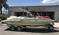 Just Reduced $18,995!!! 2006 LARSON SENZA 206 FOR SALE AT VS MARINE IN ATASCADERO, CA. Call today for details 805-466-9058 or email shawn@vsmarine.com or kris@vsmarine.com.The Senza 206 is a sleekly designed and remarkably well-equipped 20-foot-6-inch