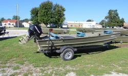 Just arrived! 2006 Lowe 1648 with a Mercury F25EH and a 2008 Karavan Boat Trailer. Battery is less than 1 year old. Comes with a Tank, 3 Fold Down Seats, Trollilng Motor, and Livewell. Call with any questions. Price is $3995.00 Nominal Length: 16' Length