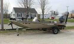 2006 Lowe Stinger 170 with Yamaha F75TLR and Karavan Trailer 7° WIDETRAC MOD-V BASS With a super-sized, 85-inch wide deck, the advanced new 170 offers 70-square-feet of open fishing space combined with 11.75-cubic-feet of storage - both 50 percent more