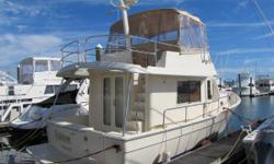 The 34 Manship is a stylish coastal cruiser with trawler profile, impressive blend of looks, comfort, and practically. This popular boats boasts a roomy single stateroom with queen berth, expansive salon, large head with separate shower, attractive