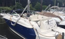 THE 250 CR FROM MONTEREY BOATS IS CLASSIC EXAMPLE OF A TRAILERABLE POCKET CRUISER WITH ALL THE BIG BOAT AMENITIES, BUILT TO OVERNIGHT OR WEEKEND ON THE WATER, THIS BOAT IS CHOCK FULL OF ALL THE RIGHT STUFF! THIS BOAT IS POWERED BY THE 5.7 FUEL INJECTED
