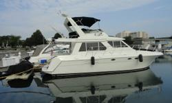 One of the cleanest Pilot Houses on the lake. This 4200 Classic has been pampered beyond belief. Recent updates include Teak an Holly flooring throughout the cabin, under water lighting, Cockpit Carpeting, Window Treatments and much more. Perfect boat to