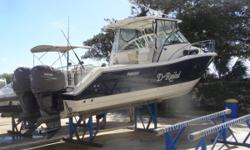 RECEIVING A FULL DETAIL. D-Railed represents one of Pursuit Boats most popular outboard express models. She is clean, well maintained, low hour (297-298 original hours on Yamaha F250s), well equipped & looking for a new home. This is an