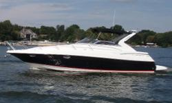 Beautiful Black Cruiser with Twin Volvo 8.1 GXi 420 Horsepower Freshwater Cooled Inboard Engines with V-Drives!  One owner and only 150 Freshwater Only Hours!!!  Great features include Bow Sunpad with a seat backing the props up, Glendinning