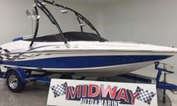 Much more info on this boat on our web site, go to : lovell. midwayautoandmarine .com  We sold this boat a few years ago and just bought it back. Affordable and clean! Perfect for the mid-size family and it even has the wake