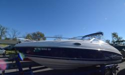2006 Rinker 232 Captiva CuddyMercruiser 350 Mag V8 300 Hp engine (445 hrs)Bravo III dual prop outdriveCockpit coverCustom tandem axle trailerNew stereo and speakersDepth finderExtended platform with marine matCarpet