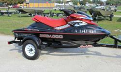2006 Sea-Doo RXP with a 2013 Heavy Duty Haul Rite Trailer EVERY MAN IS AN ISLAND, A 215 HP, LIQUID-COOLED ISLAND. There are those content to watch the world go by. On the RXP, the world watches you go by. With 215 horses, race-bred handling and an