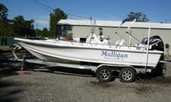 22 Ft Bay Boat, 2006 150HP Mercury Verado 4-Stroke, Bimini Top, Gamin Fish Finder, Stereo CD Player, SS Prop, Comfort Cushion Package, 2014 EZ Loader Dual Axle Trailer, Average Condition Beam: 8 ft. 6 in. Depth fish finder; Stereo; Bimini top;