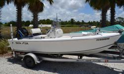 2006 Sea Fox 172CC, 90HP Mercury, Bimini Top, Aluminum Trailer. $7900.00 727-862-0776 Antonietti Marine Beam: 6 ft. 10 in.