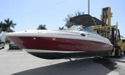 2006 Sea Ray 240 with a Mercruiser 5.0L 596 hours Let' get ready for a party! There's room for all your friends - and all their toys - on this handsome Sea Ray 240 Sundeck. You can entertain in style, thanks to the cockpit entertainment center and