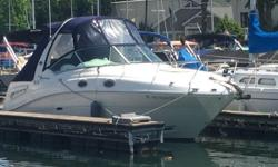 Super Clean Sundancer with MerCruiser 6.2 MPI Fresh Water Cooled V-8 with Bravo 3 Outdrive.  Great Open Cockpit Layout with lots of Comfortable Seating.  One Owner Boat well maintained with service records available. AC/Heat Windlass Anchor