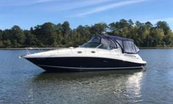 2006 Sea Ray 340 Sundancer This is a very clean Freshwater Only Undercover 340DA with only 250 hours on Twin Mercruiser 8.1l MPI V-Drives. It is equipped with Generator; Air; Bimini Top with Full Camper Canvas; Bow Sunpad with Headrests; Smartcraft System