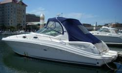 Powered by twin Mercruiser 8.1S Horizon engines with 190 hours Kohler generator Snap-in carpet Windlass anchor 4 batteries Halon system Cockpit table/sink/fridg Marine head with shower and macerator Full galley Northstar VHF Raymarine C80 Large