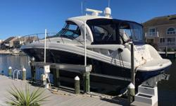 This bristol condition 40 Sundancer is absolutely mint! This second owner has it lift kept summer and winter. This is the cleanest, most stunning 40 Sea Ray Sundancer I have seen! Nominal Length: 40' Length Overall: 41' Drive Up: 2.8' Engine(s): Fuel
