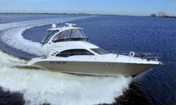 Twin QSM-11 Cummins Diesels under 800hours, Freshwater Boat until Fall 2017, Dry Stored at River Forest inside a Climate Controlled Building during the 6 month Hurricane Season, Extremely Clean Yacht, Hardtop with Complete Enclosure and Air