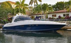 Perhaps Sea Rays most successful design, the 52 Sundancer  One look at this highly maintained and customized 2006 52 Sundancer will tell you all you need to know about her.  At a glance, you will see that the owner keeps her in meticulous