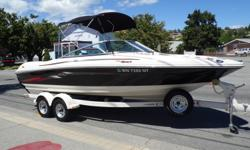 MERCRUISER 4.3L V6 190HP, DUAL BATTERIES W/SWITCH SNAP IN AND OUT CARPET, BIMINI, BOW AND COCKPIT COVERS, 388 HRS ON ENGINE. TANDEM AXEL TRAILER, DRUM BRAKES, SPARE TIRE INCLUDED. Beam: 8 ft. 0 in. Hull color: SERV2115H506