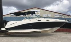 *** Stock # 5439 ** 2006 Sea Ray 270 Amberjack NEW Mercruiser 383 Stroker 350hp @ 52 hours with 3 yr warranty(08/17 - 08/20) ** Shore power ** Bimini with Full Eisenglass Enclosure ** Air Conditioning ** Windlass ** Remote spot light ** On Board Battery
