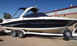2006 Sea Ray 270 SLK with Mercruiser 8.1 496 HO 425 HP & Bravo Three Dual prop outdrive. Very nice boat with room for everyone! this boat is loaded with features full head with sink and vacuflush head, fiberglass arch with bimini tops and full camper
