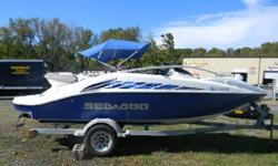 *** W/TWIN 155 HP ROTAX 4-STROKE JETS/BIMINI-COVER/TRAILETR/ *** FUN, SPEED AND MAUVERABILITY, THAT'S WHAT SEA DOO OFFERS ON THIS WELL EQUIPPED TWIN ENGINE JETBOAT! PERFECT FOR LAKES, RIVERS AND THE BAYS, WHETHER YOU ARE PULLING A SKIER OR A TUBE OR JUST