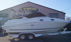 SALE PENDING 2006 SeaRay 240 Sundancer WITH MERCRUISER 350 MAG, MPI, 300HP, BRAVO III ENGINE. TRAILER INCLUDED. MINT CONDITION! Stock number: USED1319