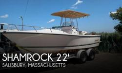 Actual Location: Salisbury, MA - Stock #003530 - If you are in the market for a fishing, look no further than this 2006 Shamrock 220 Stalker Cuddy, just reduced to $39,900 (offers encouraged).This boat is located in Salisbury, Massachusetts and is in