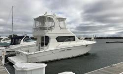Very clean, 1 owner, Freshwater 42 Convertible. AutoPilot, Twin E-120's, Sat TV and Bow Thruster. Main cabin welcomes you with warm cherry finish. Galley down with dinette up. Trades considered. Engine(s): Fuel Type: Diesel Engine Type: Inboard Quantity: