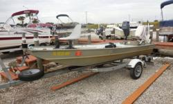 2006 Sylvan 1436 JON Is 14 feet in length with a 36 inch beam. Features include a Lowrance DF/FF, Trolling Motor, Cooler Live well, and Bilge Pump. Powered by a Johnson J25TESRA 25 horsepower 2 stroke motor in good running condition. A Supreme single axle