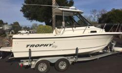 Super Clean Call today 805-466-9058 or kris@vsmarine.com Exceptionally Clean, 4.3L V-6, * hp Honda kicker, Radar, GPS, Fish finder, Stereo, Hard Top with cruise curtain, Dual battery's with charger, new disc brakes and tire and all the gear to go out and