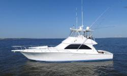 This 2006 Viking 48 Convertible (three cabin layout) is in very nice condition, and completed the 2000 hour service on her 900hp Common Rail MANs in May 2018. All interior fabrics, furnishings, soft goods, and carpet were replaced in 2017.